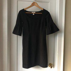 Black Ann Taylor Loft sheath dress w/bell sleeves